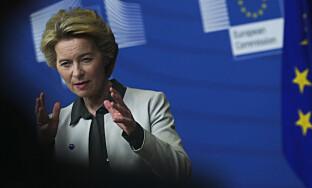 PRESTISJE: EU-kommisjonens nye president, tyske Ursula von der Leyen, har gjort klimaplanen «Europeisk grønn giv» til et prestisjeprosjekt. Foto: Francisco Seco / AP / NTB scanpix