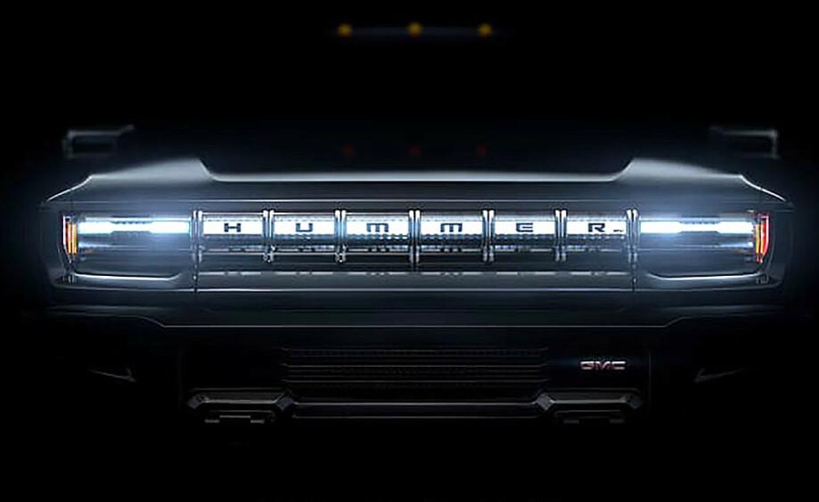 <strong>GMC Hummer pickup:</strong> Bilen skal vises 20. mai, og kommer på markedet allerede neste vår. Foto: GM