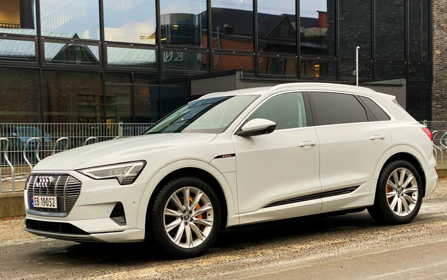 BESTSELGER: Audi e-tron er årets mest solgte elbil, når de to første månedene regnes med. Foto: Fred Magne Skillebæk