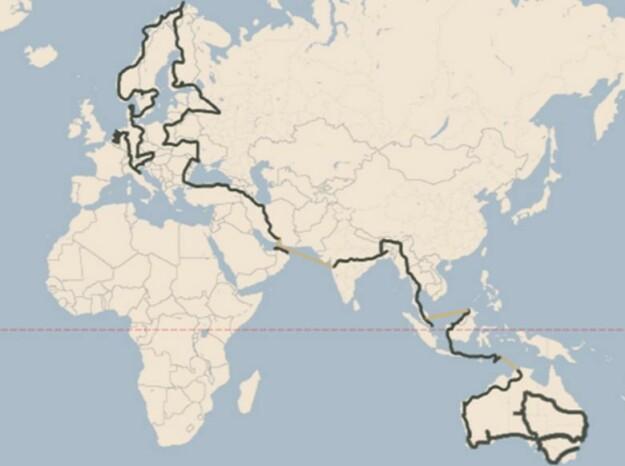 95.000 KM: Wakkers tur startet i Amsterdam og endte i Sydney. Foto: plugmeinproject.com