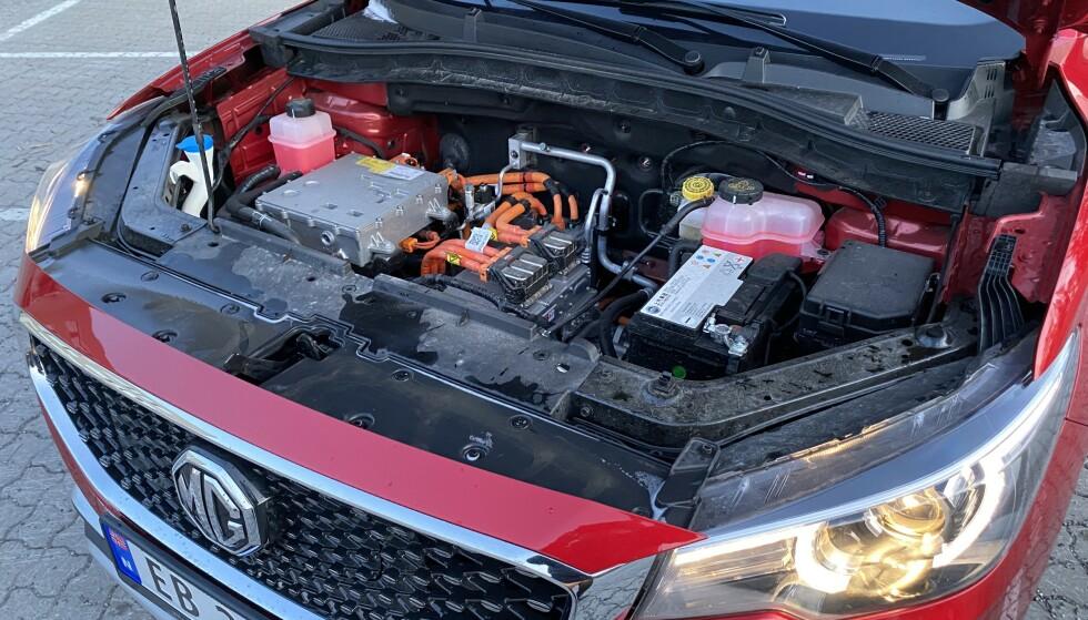 BYTTET UT: I dette tilfellet er bensinmotoren byttet ut med elmotor og tilbehør. Foto: Fred Magne Skillebæk