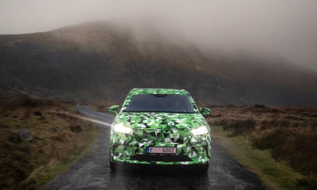 VÅTE FORHOLD: Kjøringen fant sted langt fra folk i et vått Irland. Foto Ivo Hercik