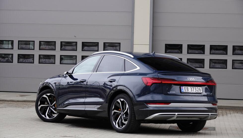 FLERE MODELLER: Tallene for Audi e-tron inkluderer begge karosseriversjonene. Foto: Fred Magne Skillebæk