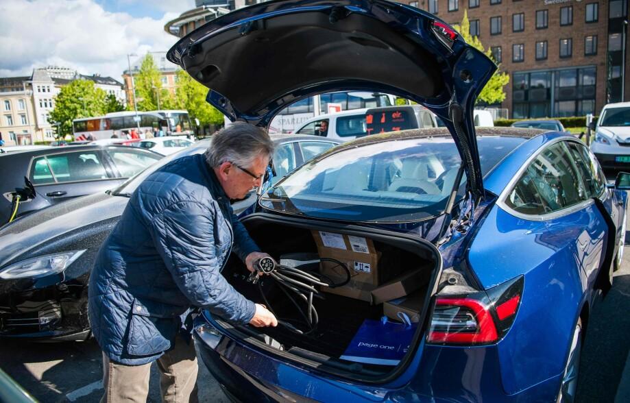 Har du yrkesbil, kan du maksimalt bruke den til privat bruk ti dager i året. Foto: Jonathan NACKSTRAND / AFP.