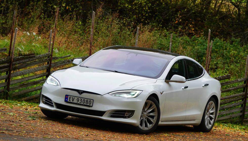 MODEL S: Også Model S og Model X får oppgraderinger som øker rekkevidden. Foto: Fred Magne Skillebæk
