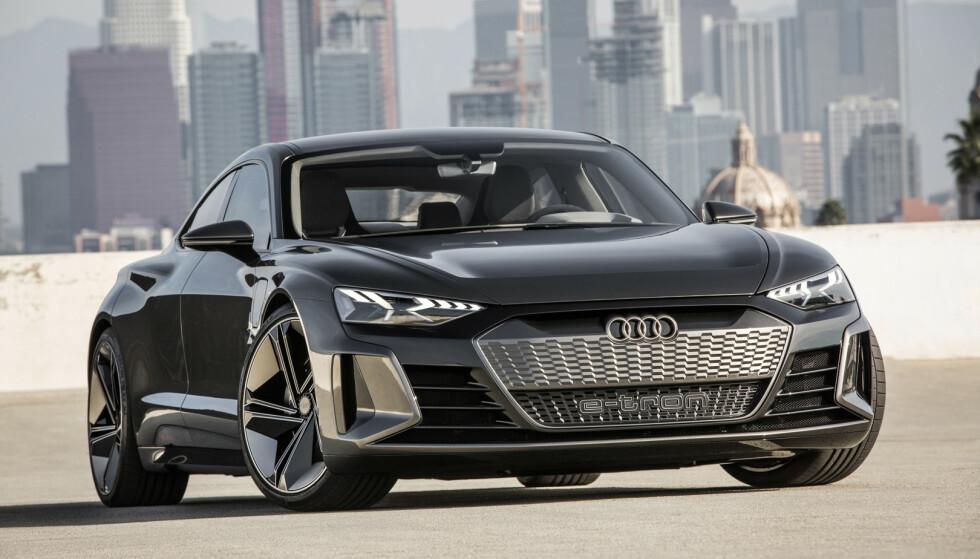 KOMMER: Audi e-tron GT er bare en av mange elbiler som kommer fra VW-gruppen. Foto: Audi