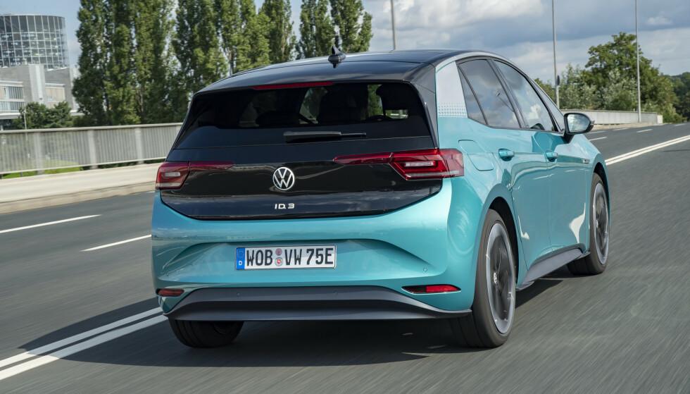 RADARER: Også bak har VW montert radar for å følge med.