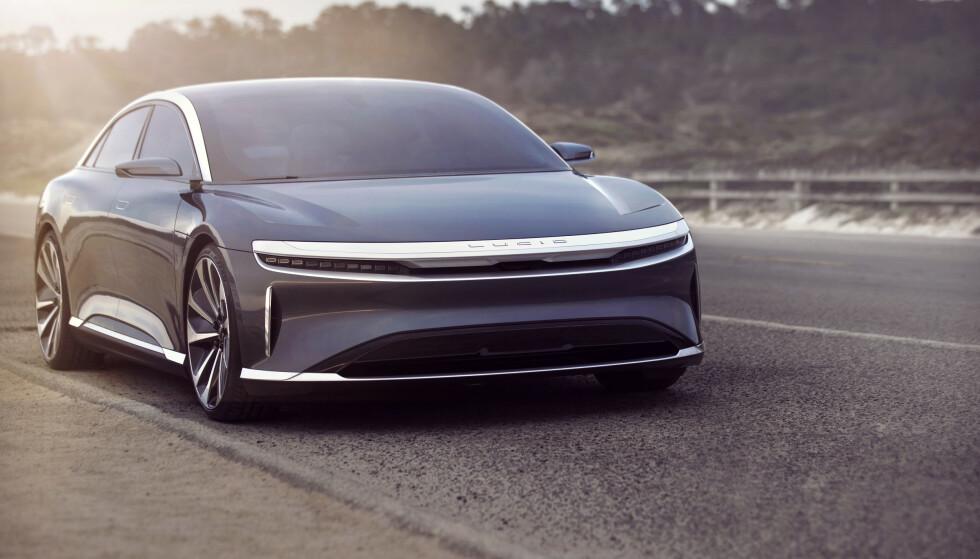 SOBERT: Lucid Air skal være en eksklusiv elbil, og er antagelig ikke ment for mengden. Foto: Lucid Motors