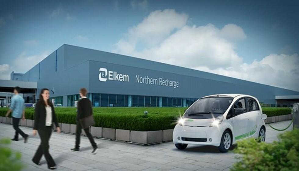 Fremtiden: Slik illustrerer Elkem sine nye fasiliteter i Porsgrunn. Illustrasjon: Elkem