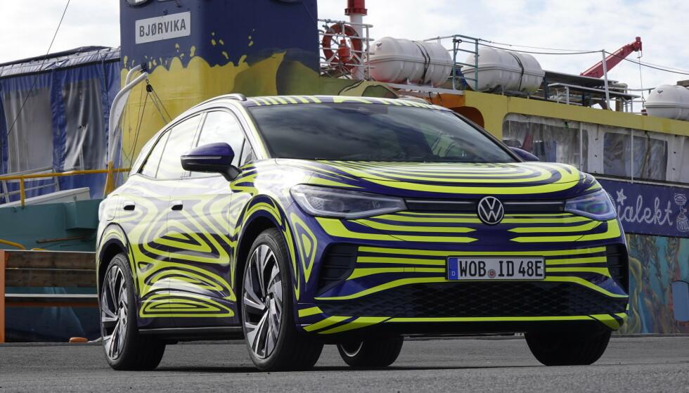 INGEN FRUNK: Heller ikke VW ID.4 vil bli levert med frunk under panseret. Foto: Fred Magne Skillebæk