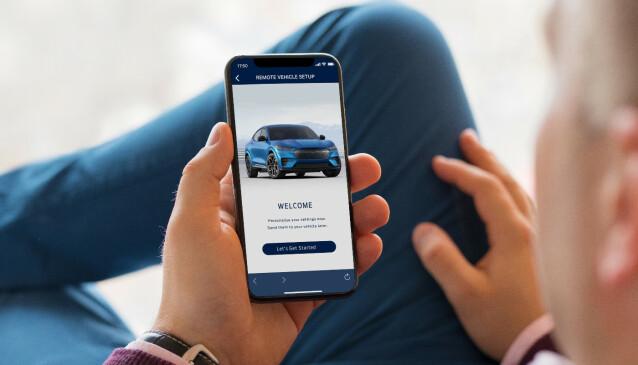 ALLE FUNKSJONER: Appen blir bilens fjernkontroll, slik vi kjenner det fra nyere elbiler. Foto: Ford