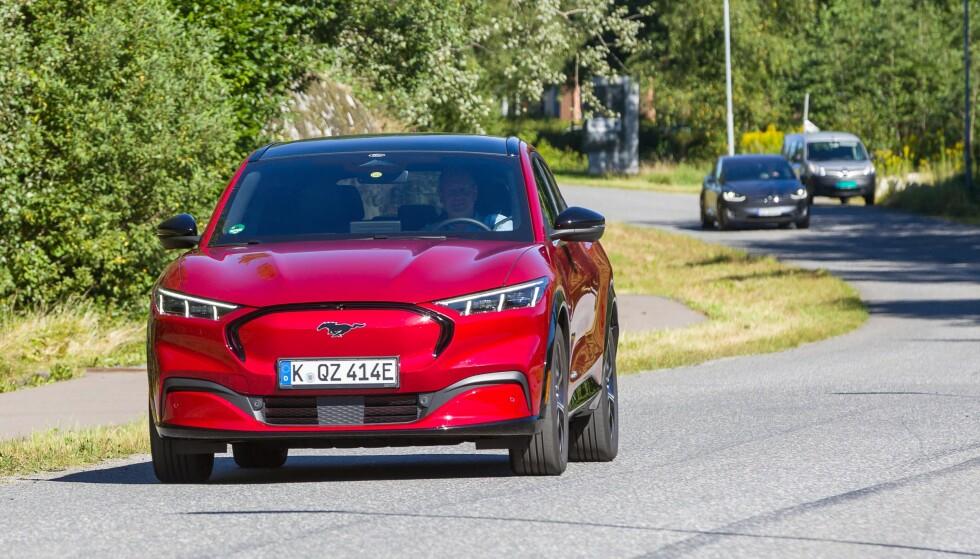 I NORGE: Ford Mustang er i disse dager på tester rundt om i Norge. Foto: Ford