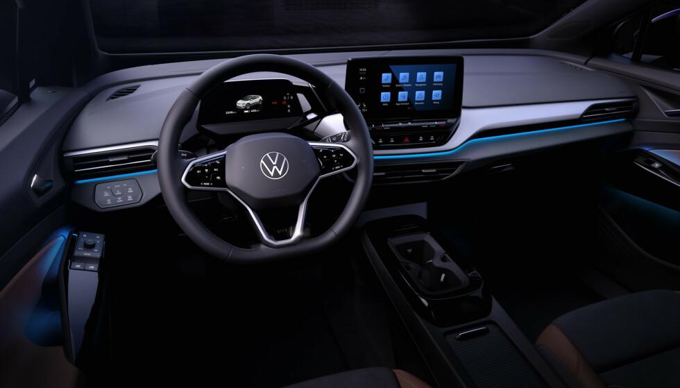 VW ID.5: Interiøret blir etter alt å dømme identisk med ID.4. Foto: VW