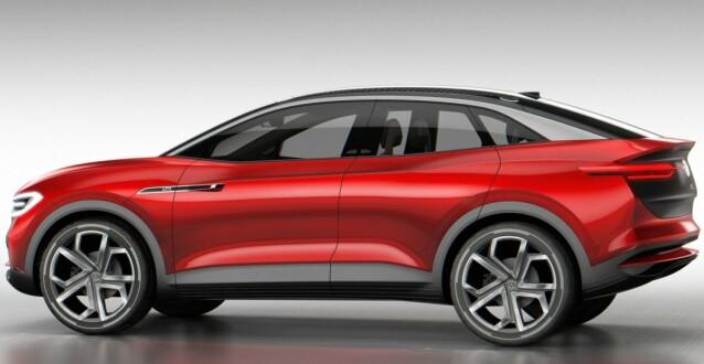 KUPÉ: Mens ID.4 blir SUV, blir ID.5 en kupé. Foto: VW