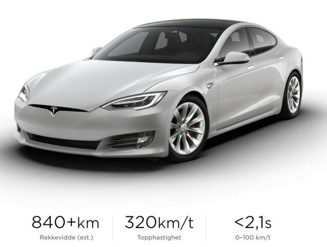 PLAID+: Topputgaven får en rekkevidde på over 840 kilometer og ytelser som knuser det meste på markedet. Skjermdump: Tesla.com