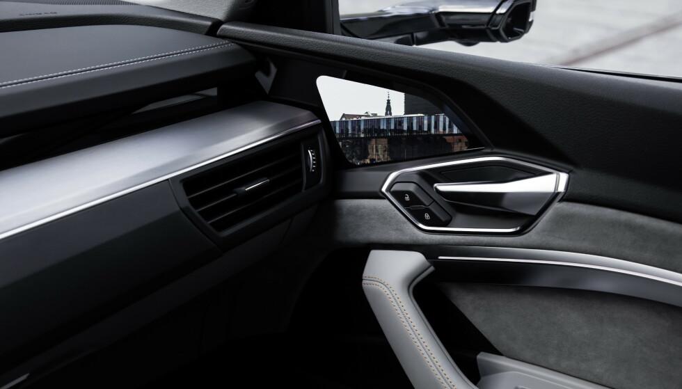 Audi e-tron: Skjermen sitter i sidedøren. Foto: Produsenten