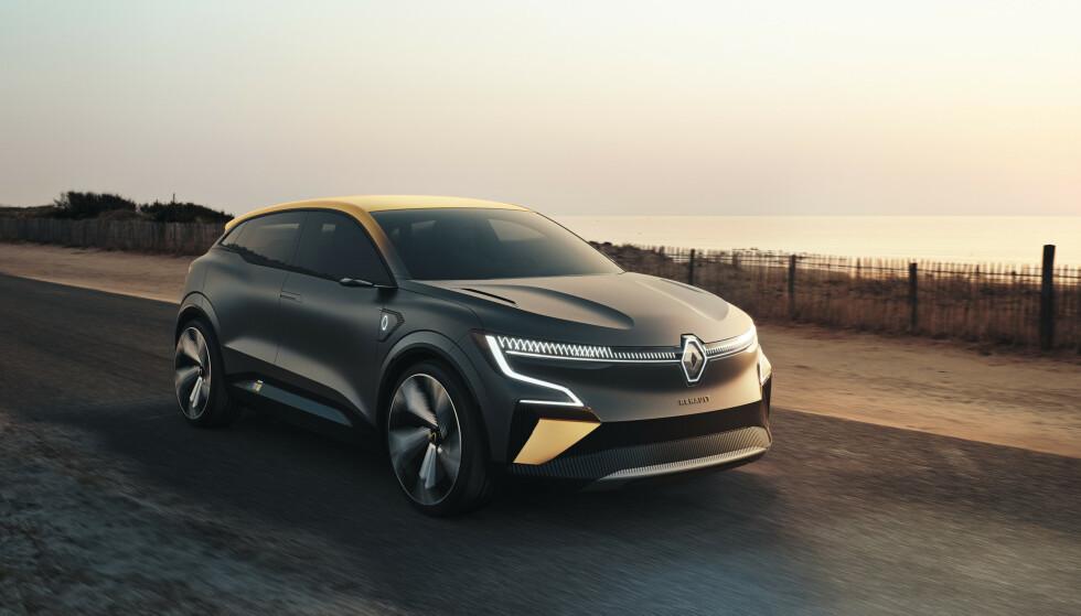 LYSORGEL: Vertikale LED-striper kan spille som et lysorgel, og hilser på deg når du kommer. Foto: Renault.