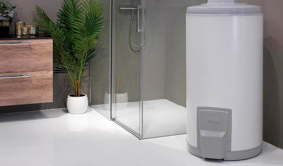 Termisk batteri: En varmtvannstank kan lagre energien fra solcellestrømmen som produseres på dagen. Foto: Produsenten