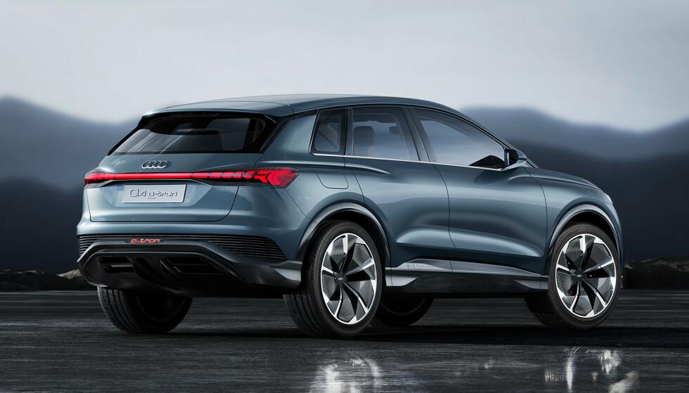 KONSEPTBIL: Foreløpig er Q4 e-tron kun vist som konseptbil. Foto: Audi
