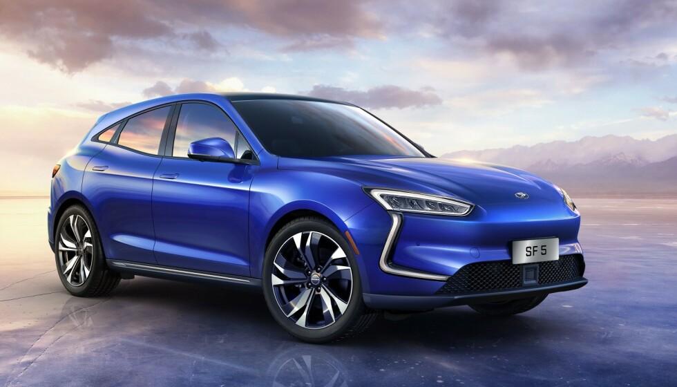 Seres SF5 EV: Kina-bilen får ytlser som parkerer det meste. Foto: Seres