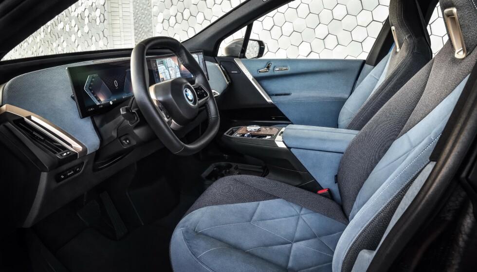 HEXAGON: Et futurisk navn på et ratt som ikke lenger er rundt. Foto: BMW