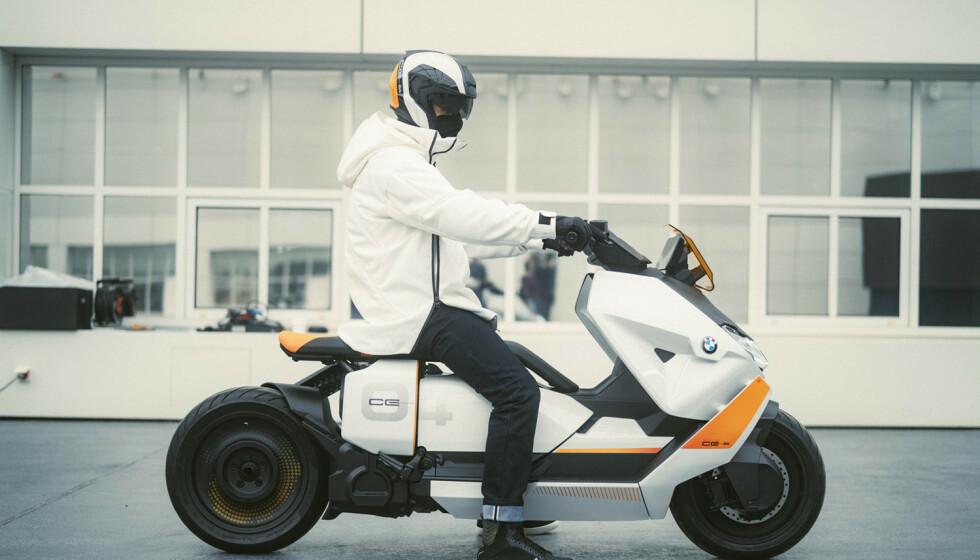 Urban: BMW gir en sniktitt på den elektriske by-scooteren de planlegger å sette i produksjon. Foto: Produsenten