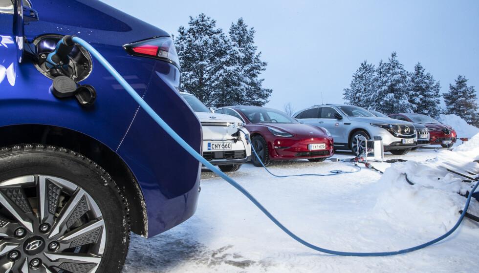 Økende andel: VI har nå 400.000 elbiler på norske skilter, og elbilen viser seg anvendelig året rundt. Foto: TM