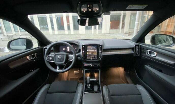 KOMPAKT: XC40 er en bil som klasser inn i kompaktklassen. Foto: Fred Magne Skillebæk