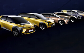 Toyota lanserer seks nye elbiler