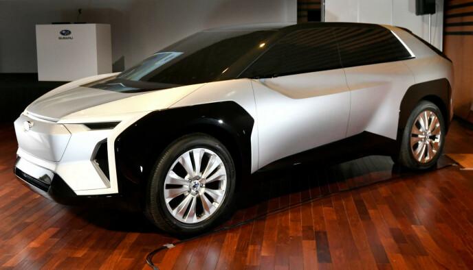 Subaru har vist konseptbilen Evoltis, et samarbeidsprosjekt som også skal vises i 2021. Foto: Subaru