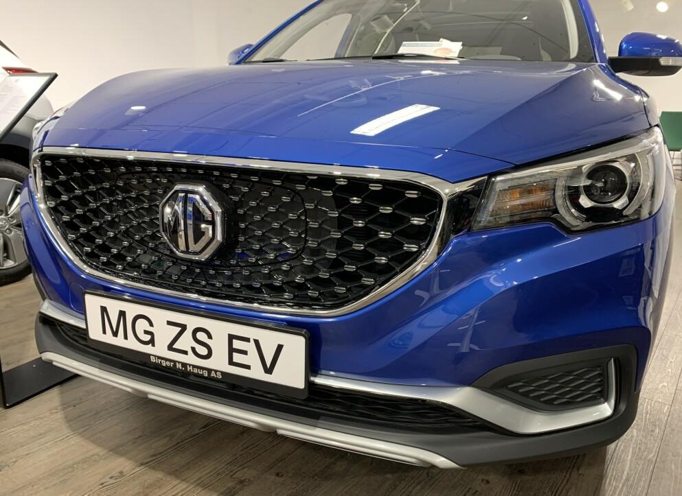 KINESISK MG: Hele 3.500 eksemplarer av den kinesiske elbilen MG ZS EV ruller allerede på norske veier. Foto: Bjørn Eirik Loftås