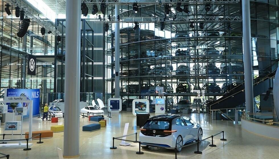 SKAL BLI SUPERMODERNE: VW tar sikte på å gjøre fabrikkanlegget i Wolfsburg til en spydspiss innen elbilproduksjon. Foto: VW
