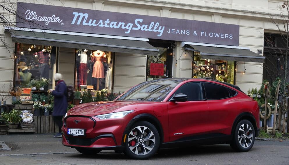 GRATULERER: Ford Mustang Mach-E, en blomsterbukett verdig. Foto: Fred Magne Skillebæk