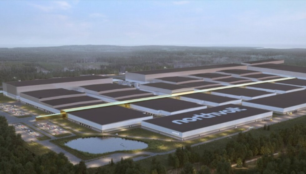 ENORMT: Sveriges Nortvolt-prosjekt kan bli stor konkurrent til de norske initiativene. Illustrasjon: Nortvolt