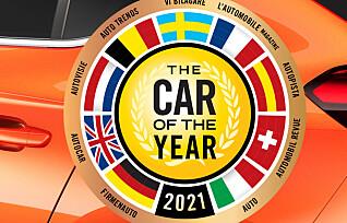 En av disse kan bli Årets Bil i Europa 2021
