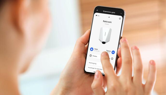 Smart lading: Styringen gjøres fra en app eller fra bilens skjerm. Foto: rf123