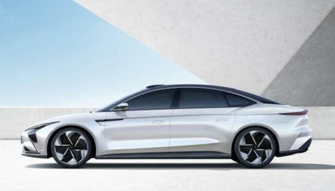 SEDAN: IM har også laget en stor sedan, i tillegg til SUV'en og en mindre kompaktbil. Foto: SAIC