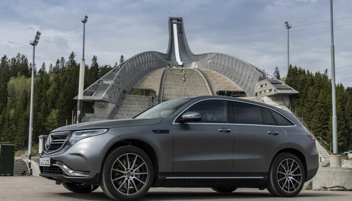 VINNER: Med en snittkarakter på 5,47 av 6, er Mercedes EQC bilen som fikk høyest snitt blant Elbil24-leserne. Foto: Fred Magne Skillebæk