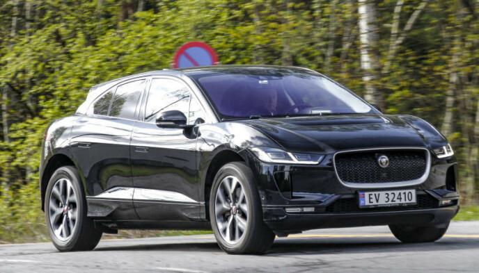 2. PLASS: Jaguar i-Pace-eierne er nesten like godt fornøyd med bilene sine som eierne av Mercedes EQC, med et snitt på 5,45. Foto: Espen Stensrud