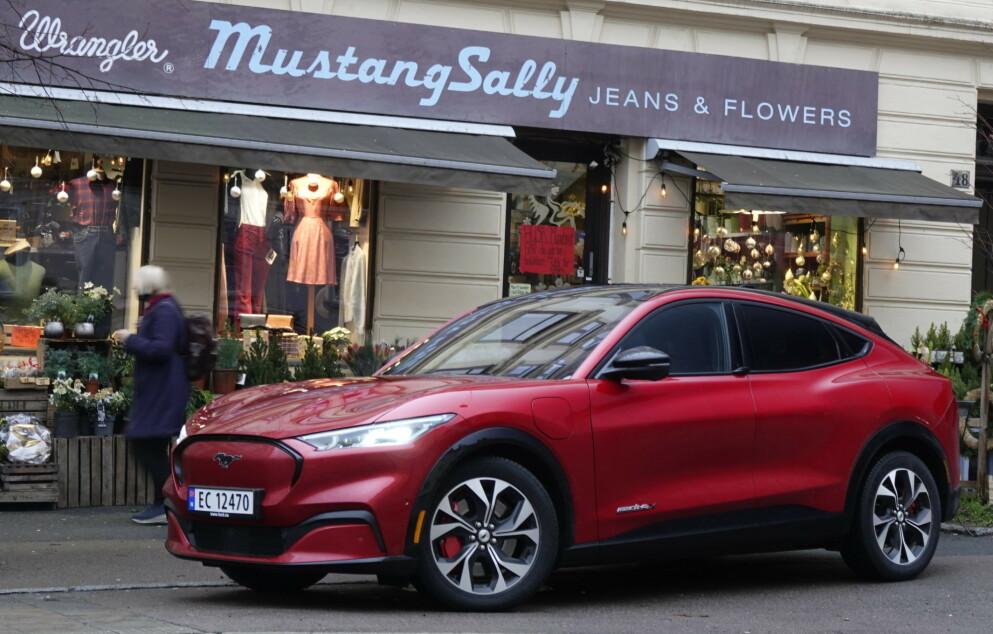 Amerikaner i Norge: Ford Mustang Mach-E har tatt Norge med storm, og er på toppen av registreringsstatistikken. Foto: Fred Magne Skillebæk