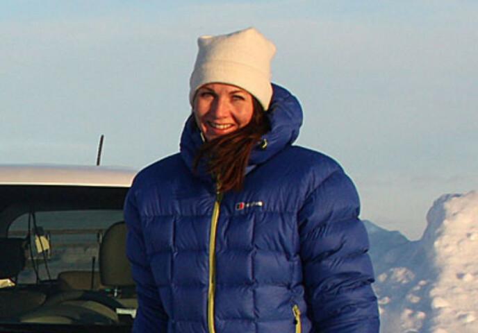 VINTERLIG: Mette Simonsen Sauge i Kia Norge er ikke overrasket over at e-Niro-eierne er fornøyd med rekkevidden på vinteren. Foto: Knut Moberg