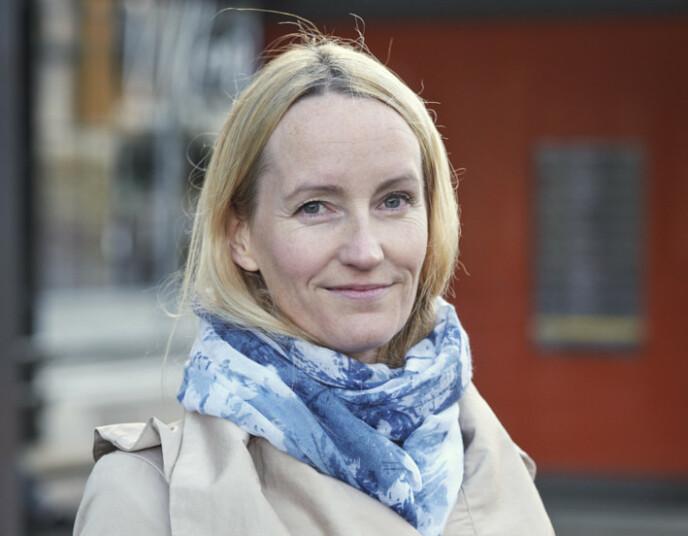 TROLLEYBYEN: Ingrid Dreyer i Skyss har stor tro på trolley-konseptet i tiden som kommer. Foto: Skyss