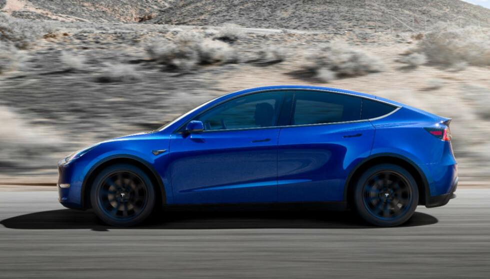 POPULÆR: Tesla Model Y kan bli en norsk storselger - når den kommer. Foto: Tesla