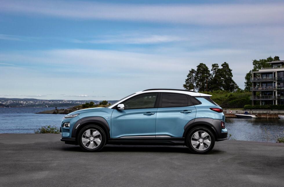 Hyundai Kona er blant de fem modellene. Foto: Dinside