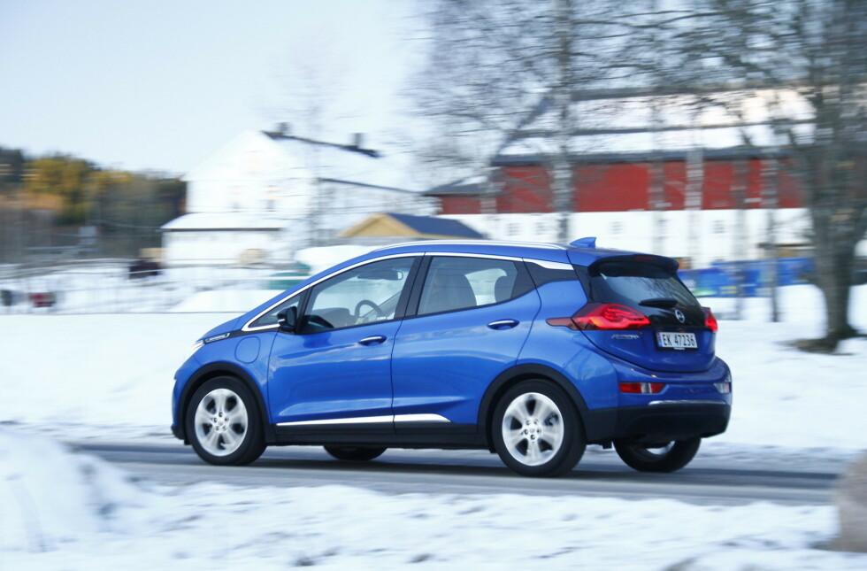 Opel Ampera-e er en av de fem modellene. Foto: Fred Magne Skillebæk