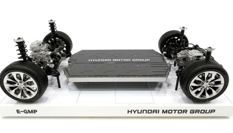 NY PLATTFORM: E-GMP er utgangspunktet for de fleste nye elbilene fra både Kia og Hyundai. Foto: Hyundai Motor Group