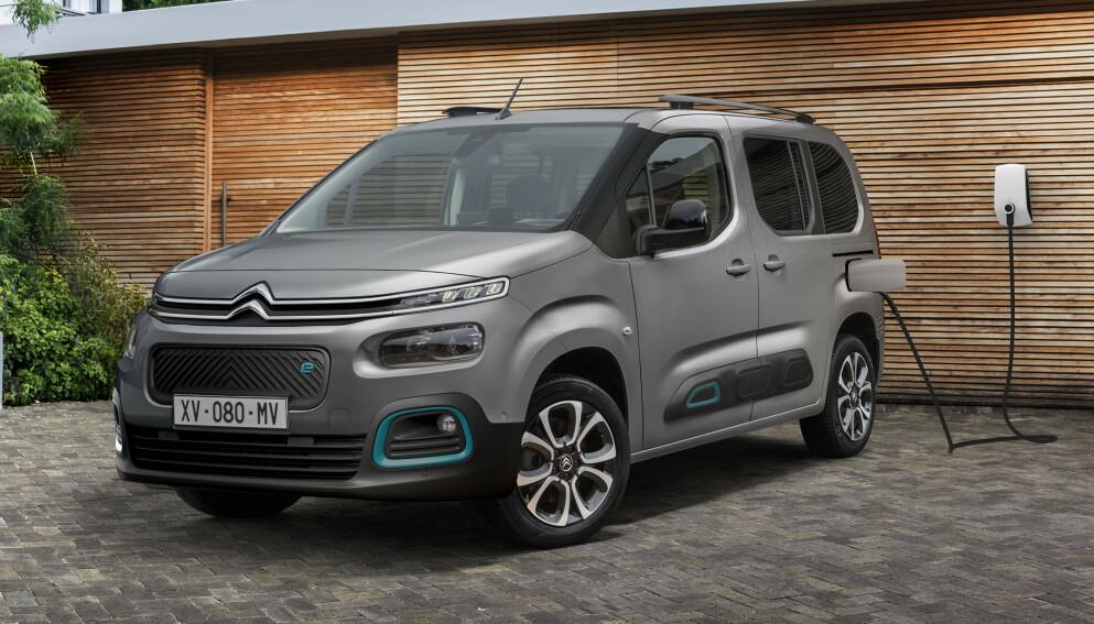 FAMILIEBIL: Med doblet rekkevidde og en rekke andre oppdateringer, kan nye ë-Berlingo bli en attraktiv familiebil. Foto: Citroën
