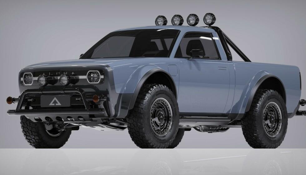 GATAS BARSKESTE: Alpha har laget en særdeles kul retro-pickup. Og den kan reserveres. Foto: Alpha