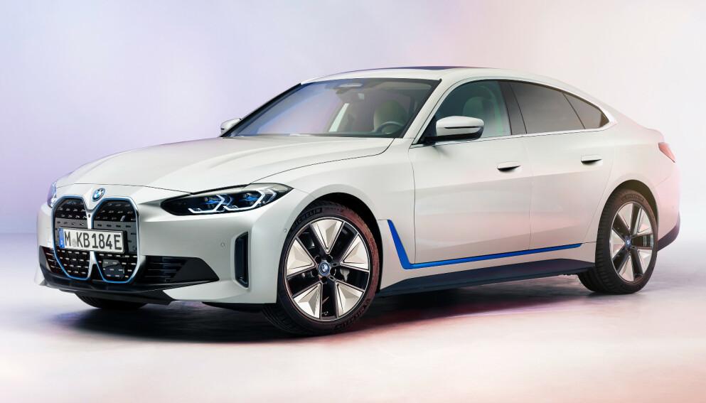OFFISIELL: Vi kan i dag vise de første offisielle bildene av BMW i4. Foto: BMW