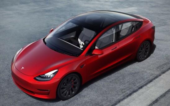 MEST POPULÆR: Tesla Model 3 har flere måneder ligget i toppen på registreringsstatistikken, siden den kom til Norge i 2019. Foto: Tesla